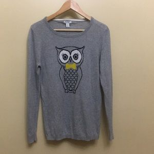 Old Navy Owl Sweater size M
